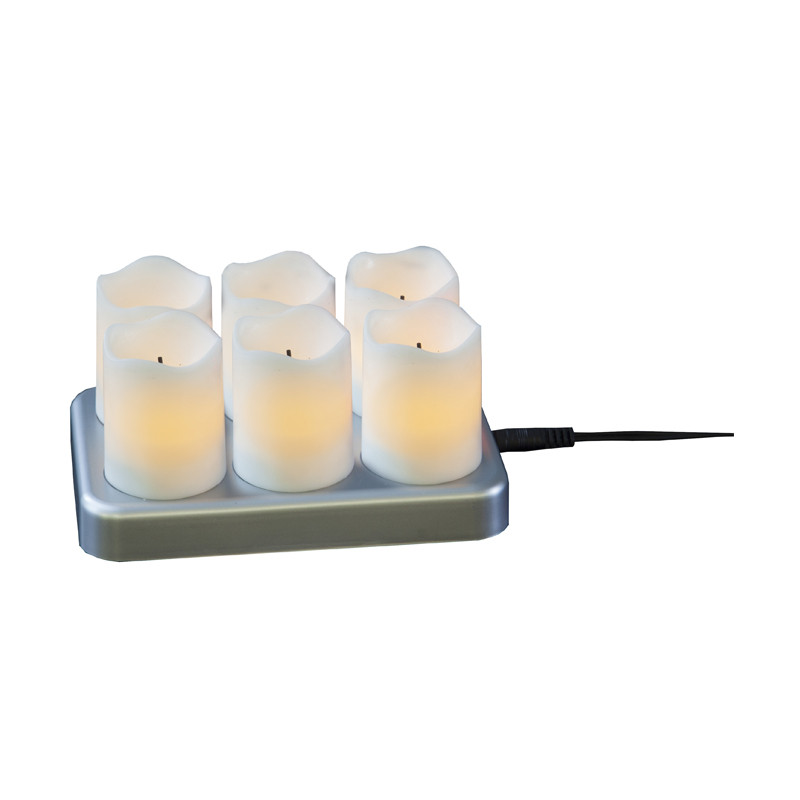 LED Chargeme värmeljus 6-pack